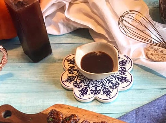 Brown Sugar Bourbon BBQ Sauce Recipe by Ash's In The Kitchen