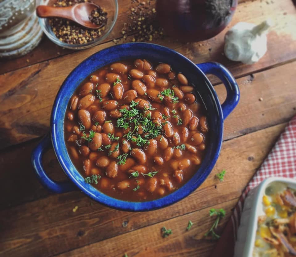 Brown Sugar Bourbon BBQ Baked Beans Recipe by Ash's In The Kitchen
