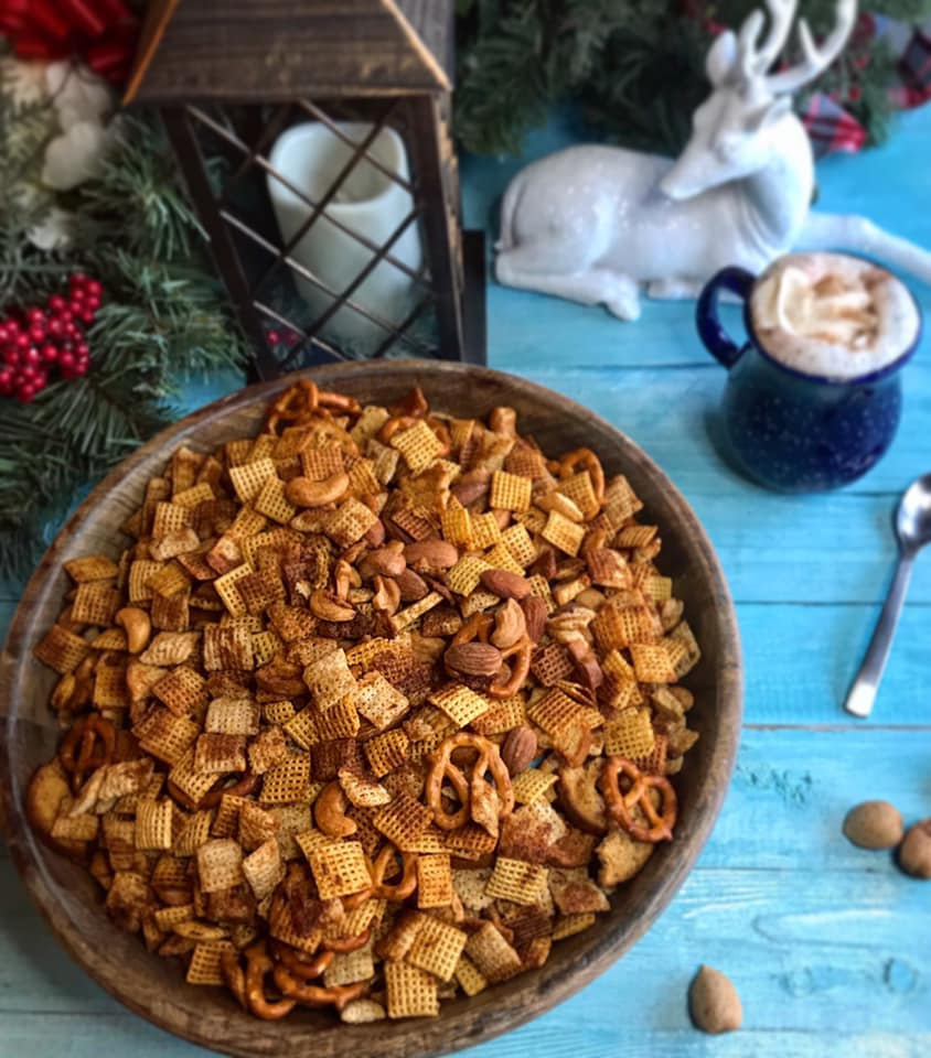 Smoky Holiday Chex Mix Recipe by Ash's In The Kitchen