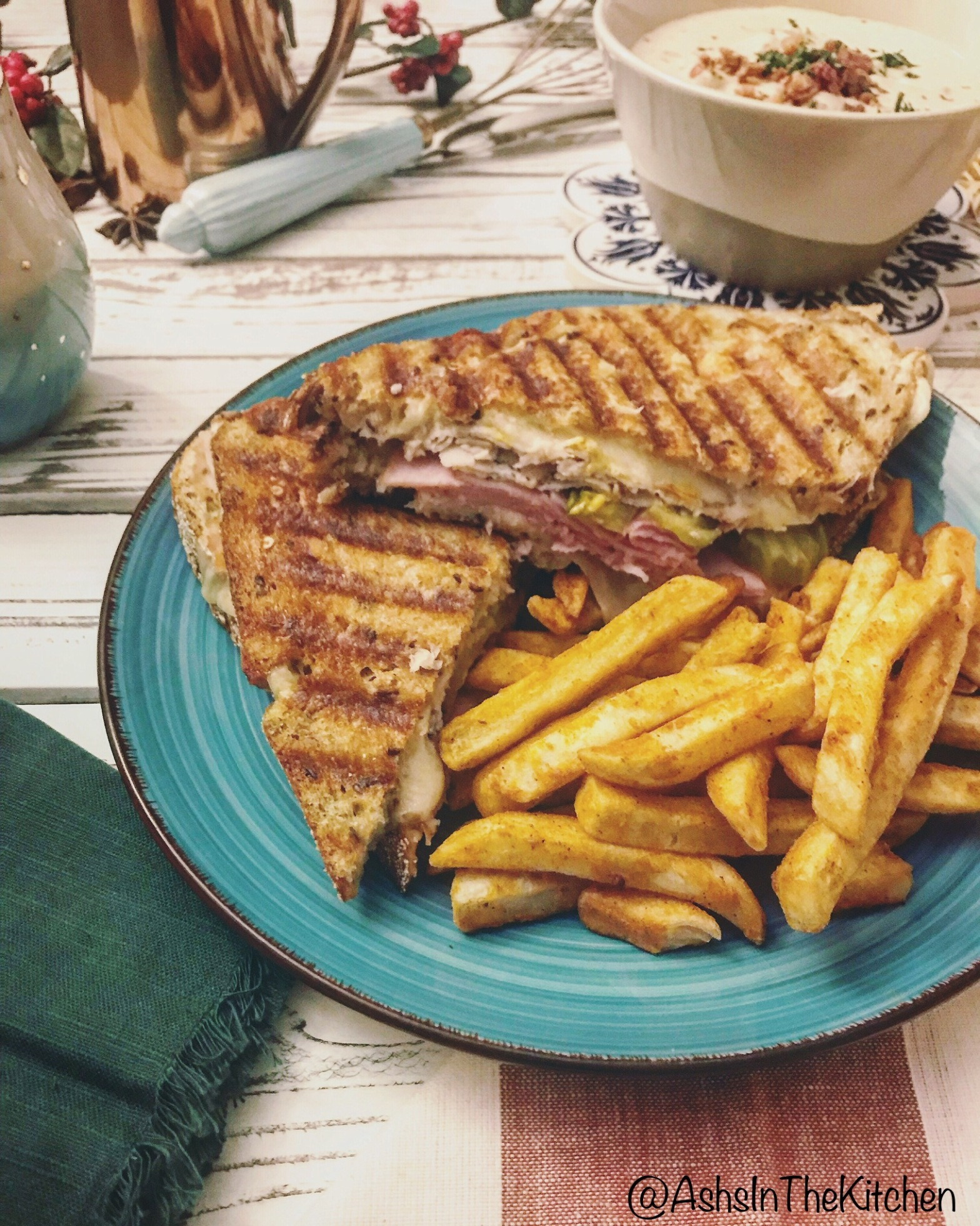 Classic Cubano Midnight Panini Sandwich Recipe by Ash's In The Kitchen