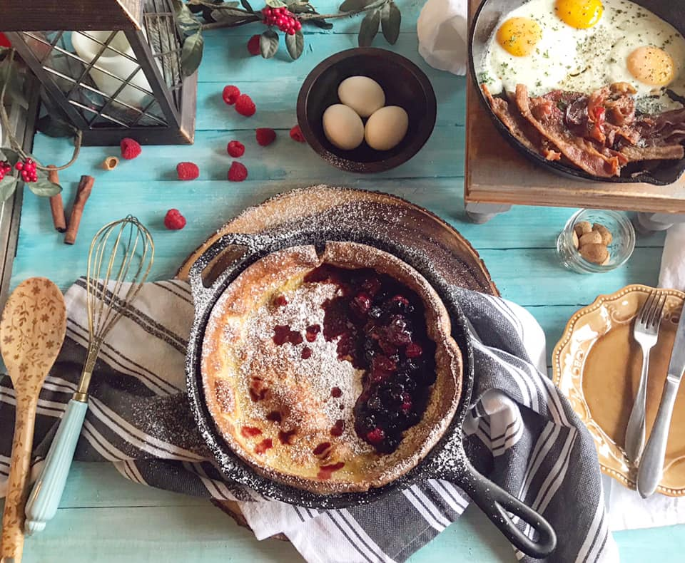 Berry Compote Dutch Baby Breakfast Recipe by Ash's In The Kitchen