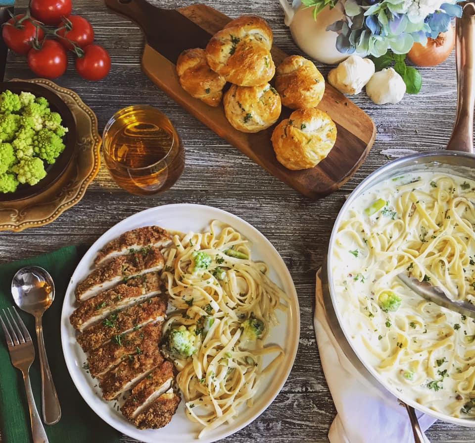 Broccoli Romanesco Fettuccine Alfredo Recipe by Ash's In The Kitchen