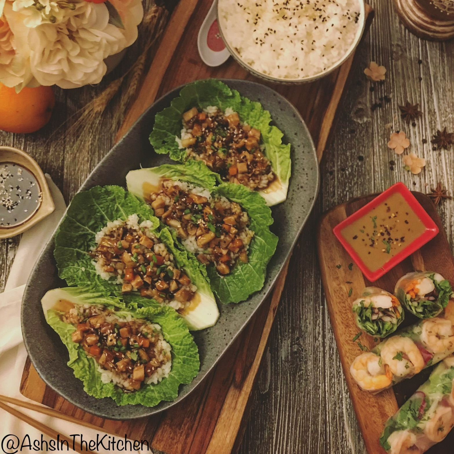 Healthy Asian Chicken Lettuce Wraps Recipe by Ash's In The Kitchen