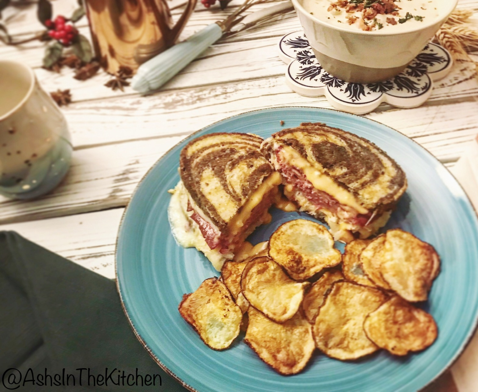 Rye Corned Beef Reuben Sandwich Recipe by Ash's In The Kitchen
