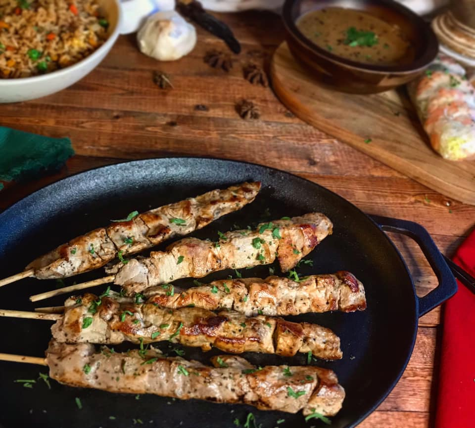 Sous Vide Peanut Satay Chicken Skewers Recipe by Ash's In The Kitchen