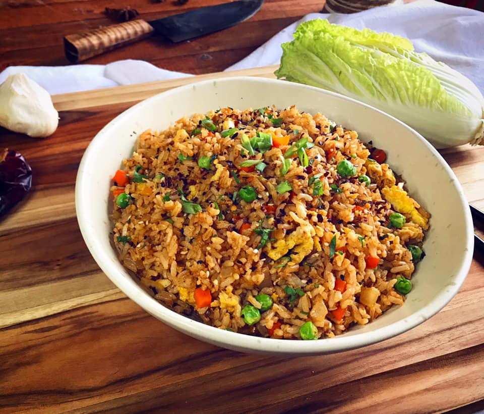 Spicy Chinese Chile Fried Rice Recipe by Ash's In The Kitchen