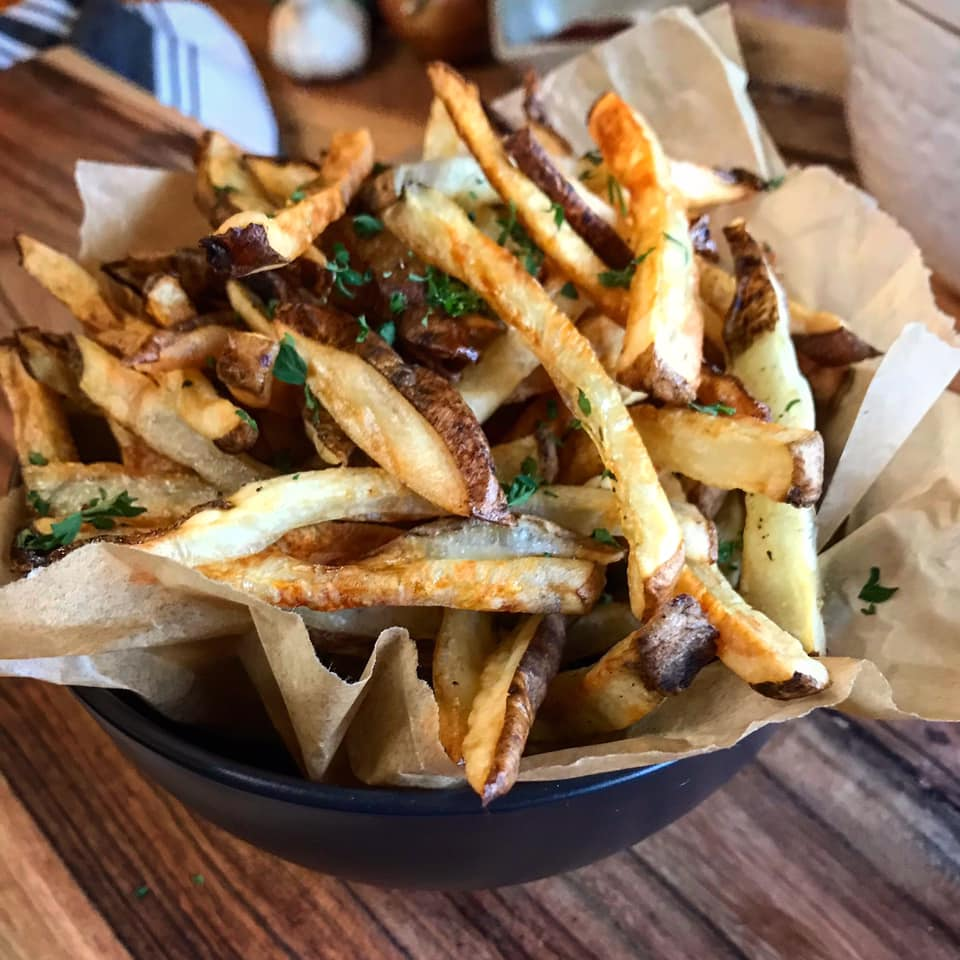Air Fryer Parmesan Herb French Fries Recipe by Ash's In The Kitchen