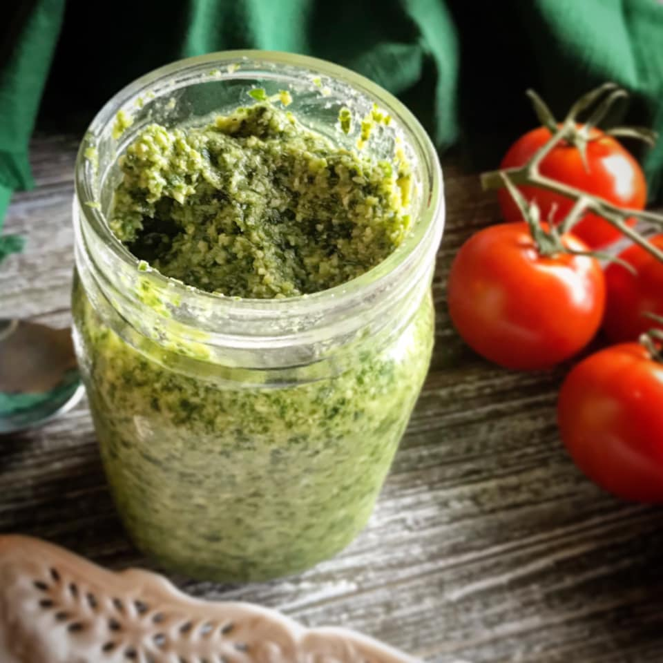 Fresh Basil Pesto Sauce Recipe by Ash's In The Kitchen