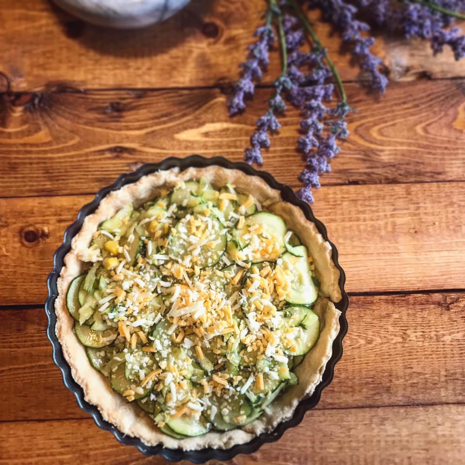 Zucchini Cheddar Pie Recipe by Ash's In The Kitchen