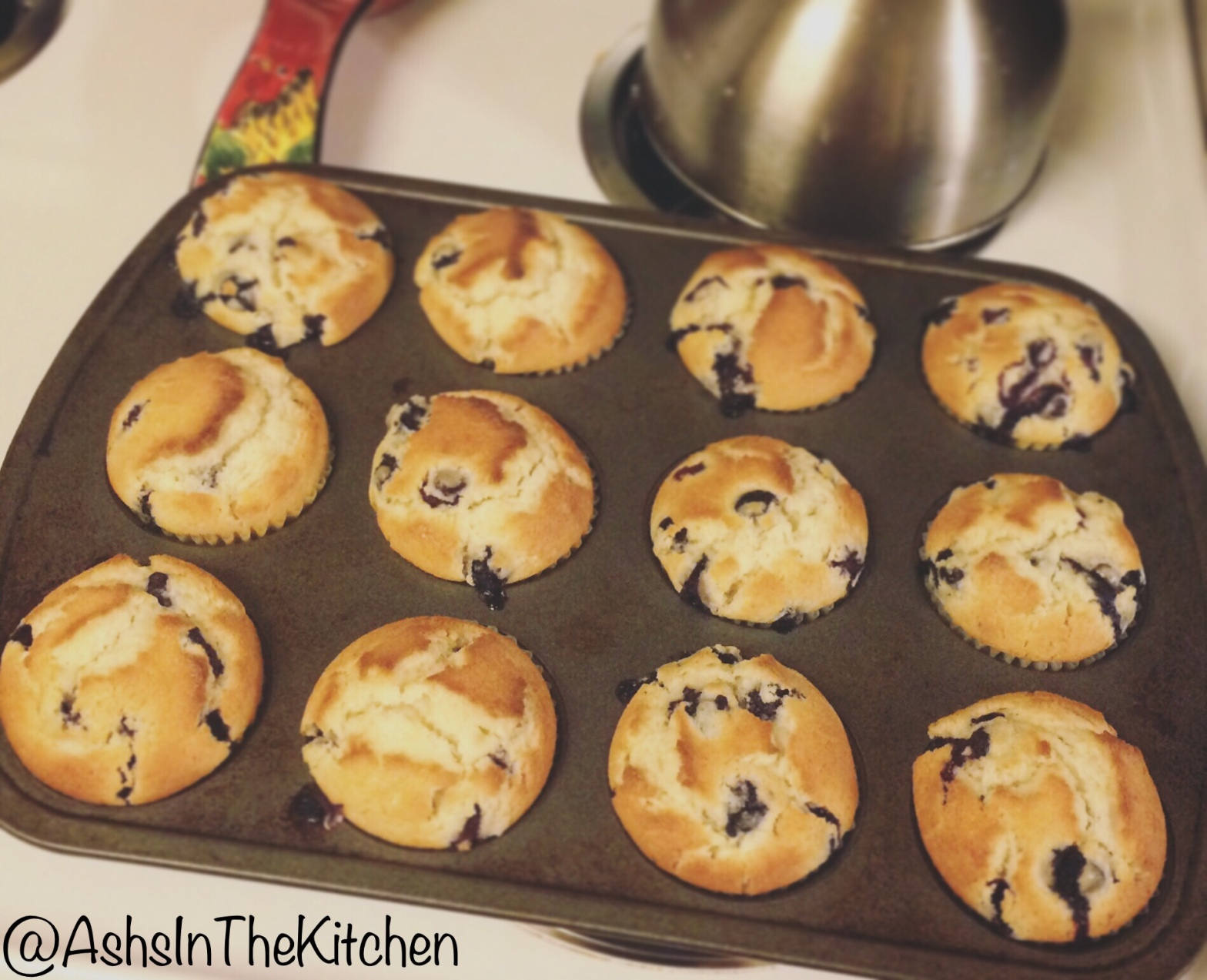 Breakfast baking Lemon Twist Blueberry Muffins Recipe by Ash's In The Kitchen