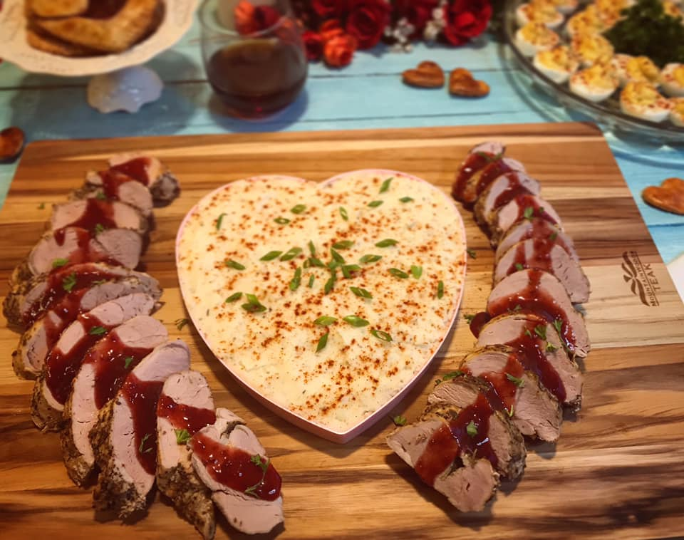 Balsamic Strawberry Glazed Pork Tenderloin Medallions Recipe by Ash's In The Kitchen