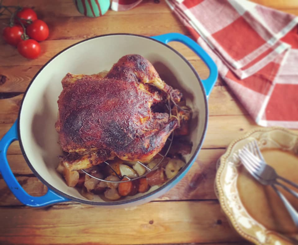 Brown Sugar Spice Rubbed Whole Chicken Recipe by Ash's In The Kitchen