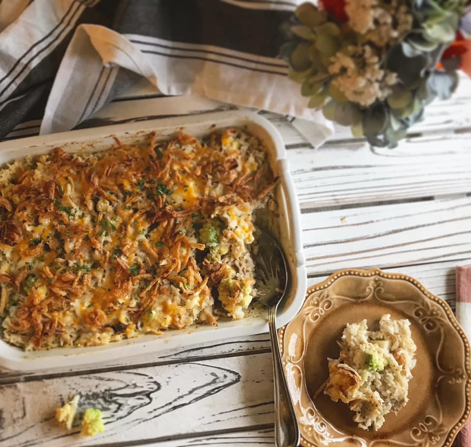 Broccoli Chicken Rice and Soup Casserole Recipe by Ash's In The Kitchen