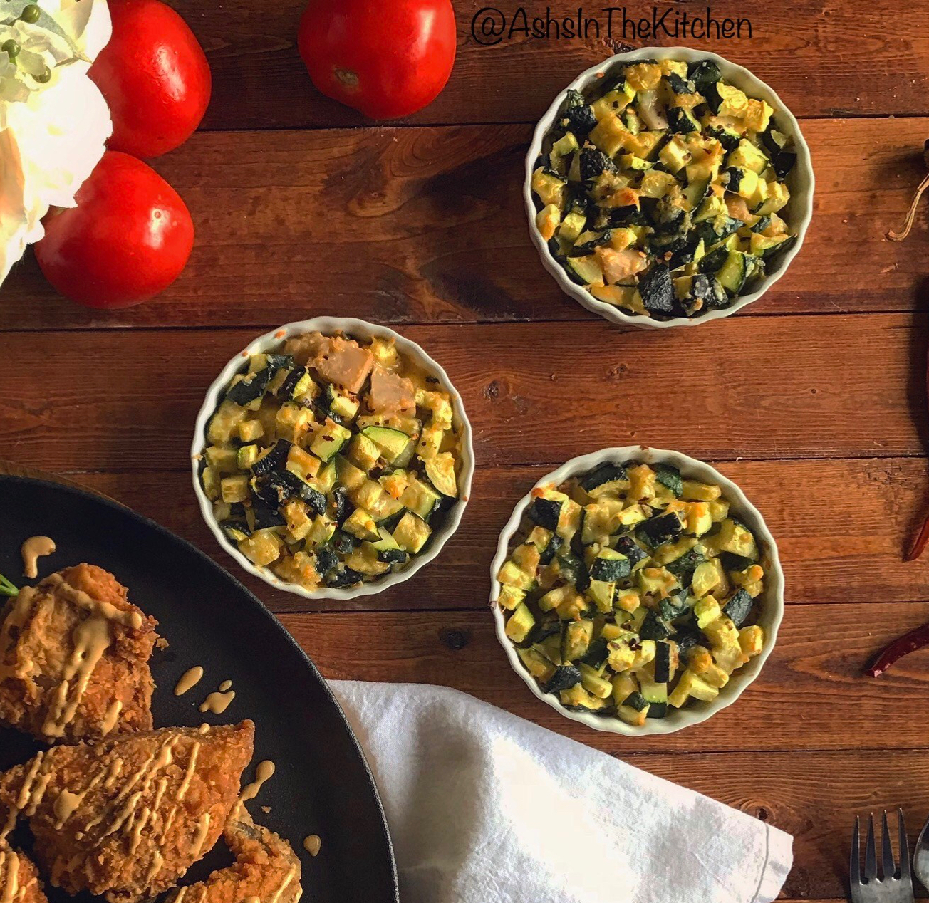 Zucchini Cheddar Bakes Recipe by Ash's In The Kitchen