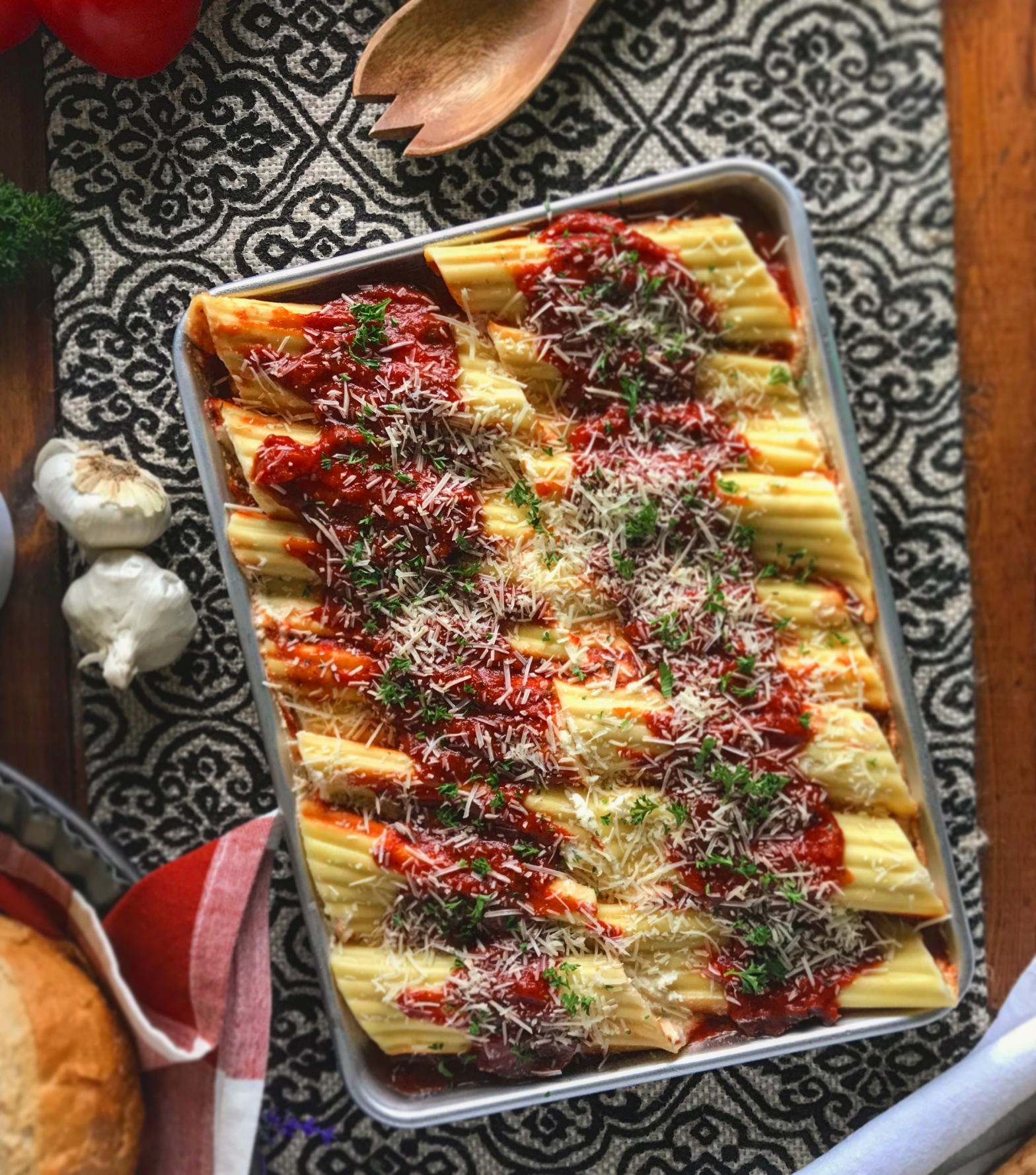 Midnight Ricotta Stuffed Manicotti Pasta Recipe by Ash's In The Kitchen