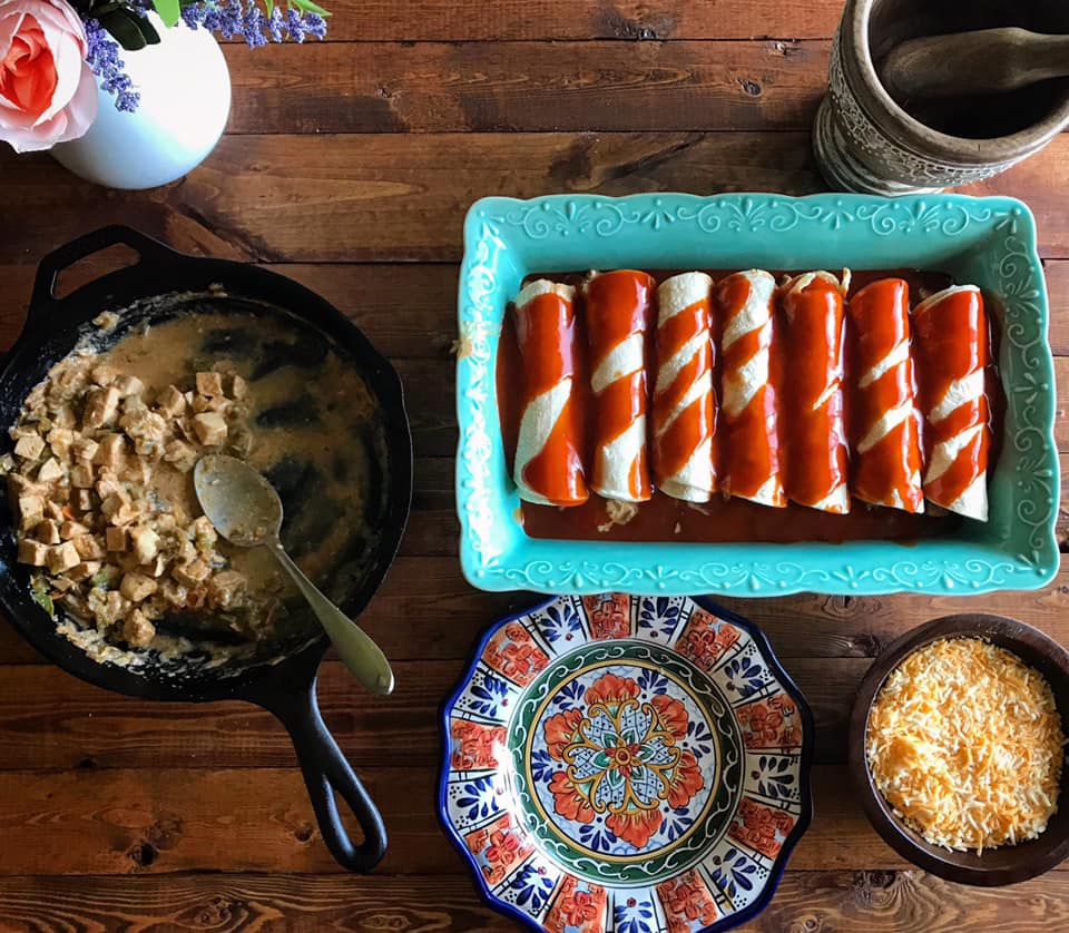 Easy Delicious Green Chile Chicken Enchiladas Recipe by Ash's In The Kitchen