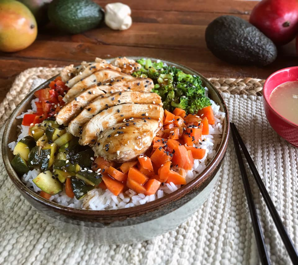 Hawaiian Teriyaki Chicken Bowl Recipe by Ash's In The Kitchen