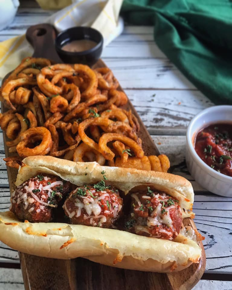 Italian Style Meatballs Sub Sandwich Recipe by Ash's In The Kitchen