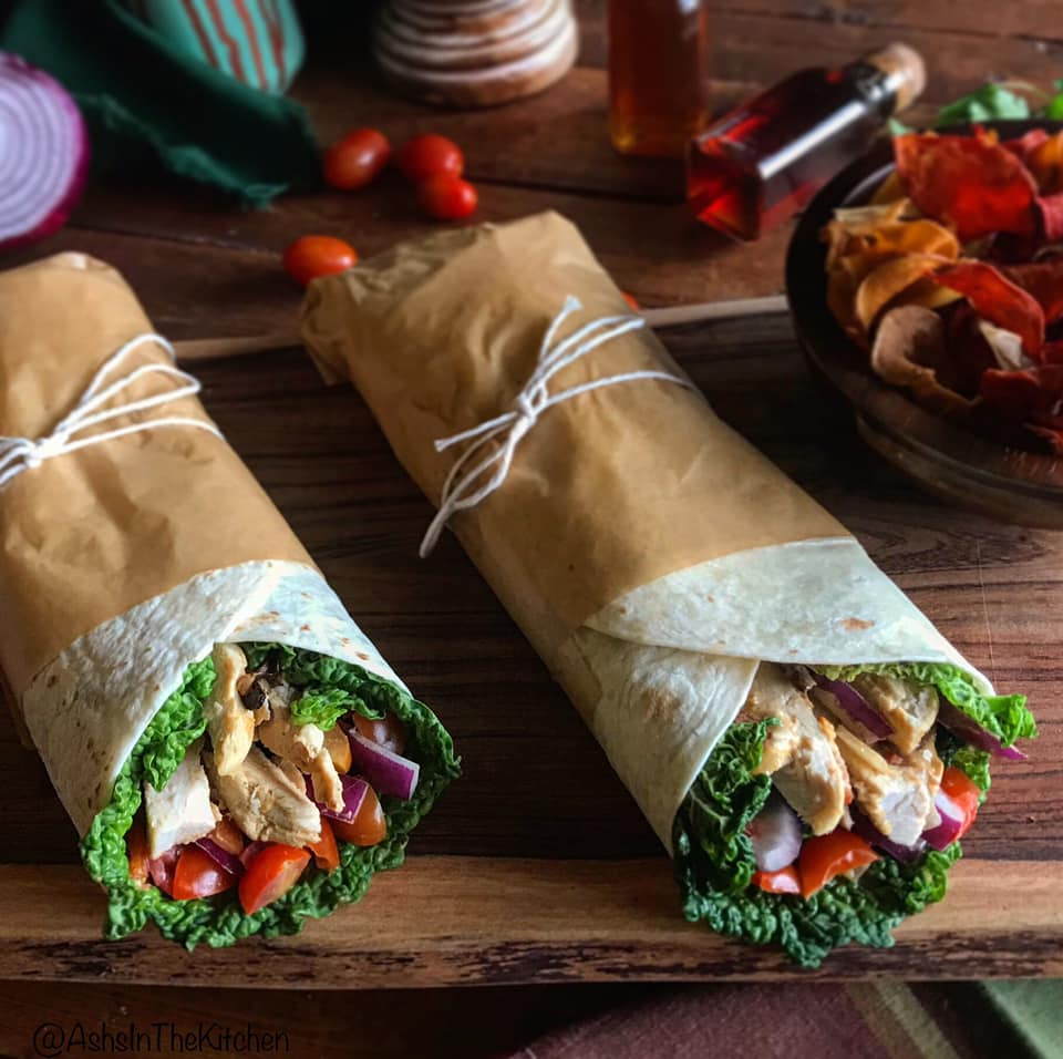 Healthy Outback Steakhouse Alice Springs Chicken Wrap Recipe by Ash's In The Kitchen