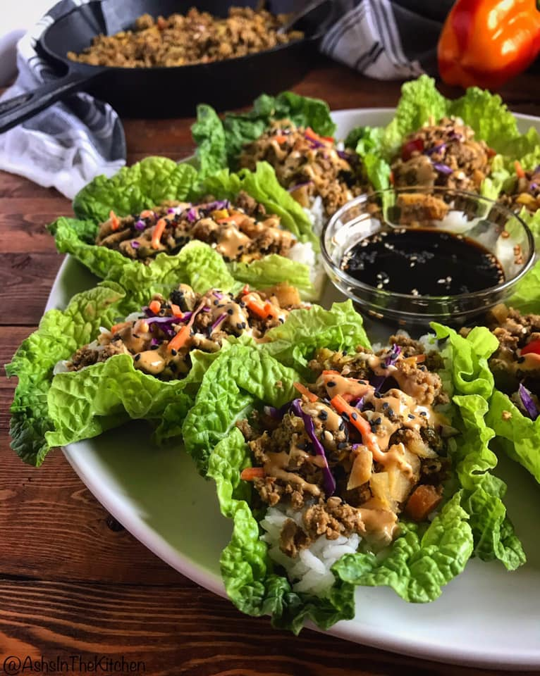 Asian Ground Beef Lettuce Wraps Recipe by Ash's In The Kitchen