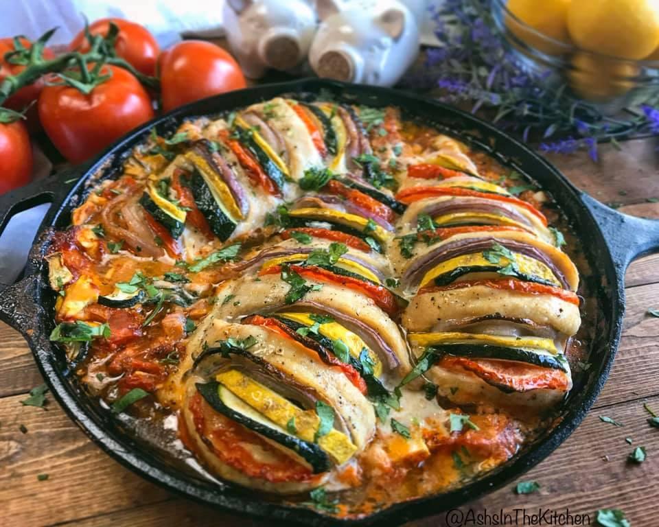 Baked Ricotta Chicken Primavera Recipe by Ash's In The Kitchen