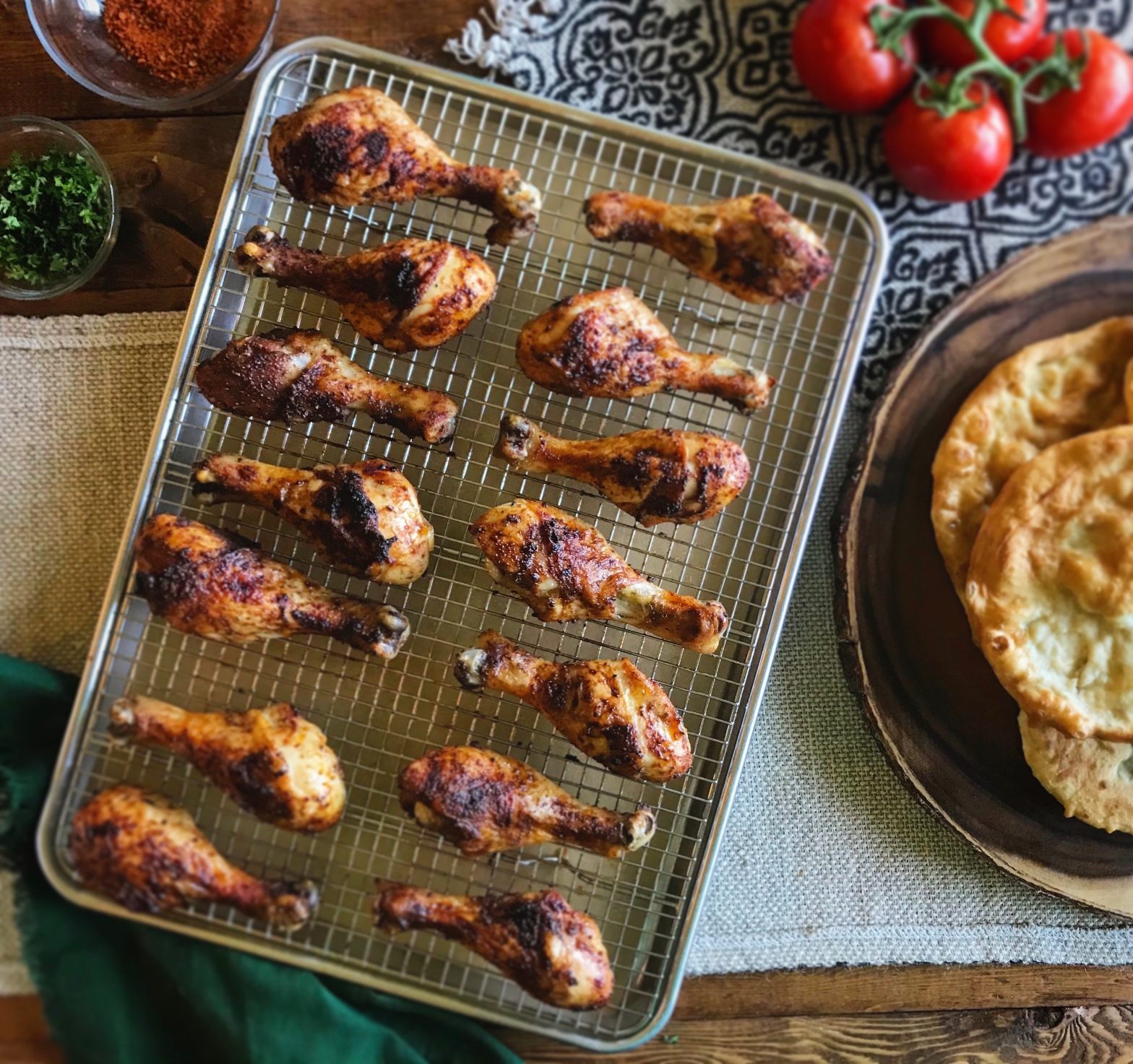 Spice Rubbed Baked Chicken Legs Drumsticks Recipe by Ash's In The Kitchen