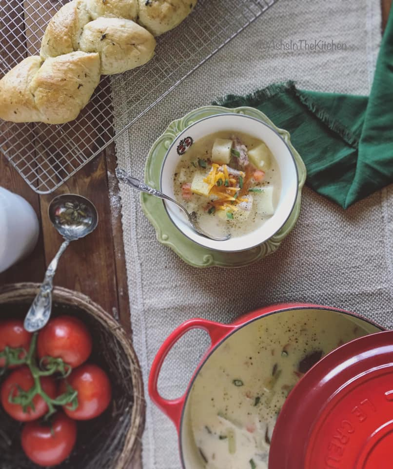 Hearty Ham and Potato Chowder Recipe by Ash's In The Kitchen