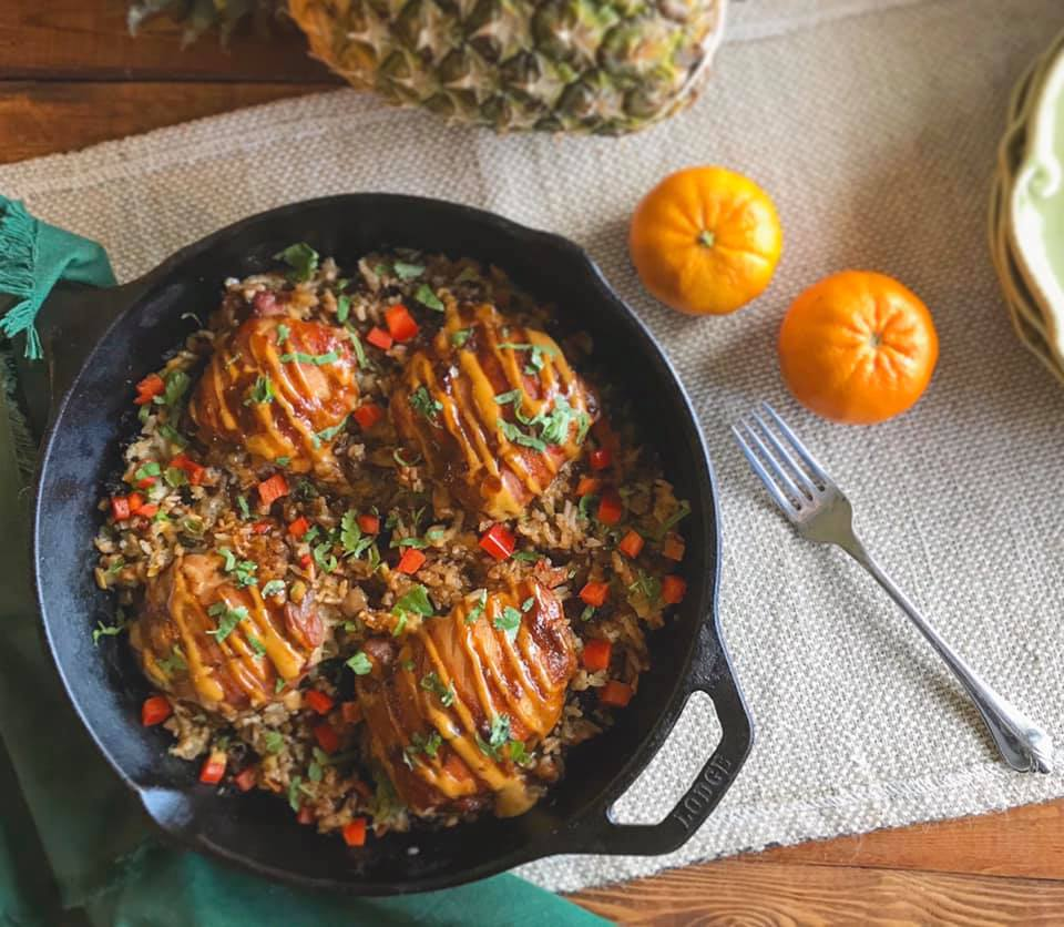 One Skillet Hawaiian Huli Huli Chicken Recipe by Ash's In The Kitchen