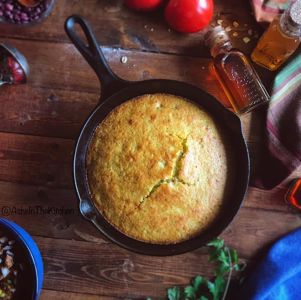 Honey Peppers Sweet Chili Cornbread Recipe by Ash's In The Kitchen