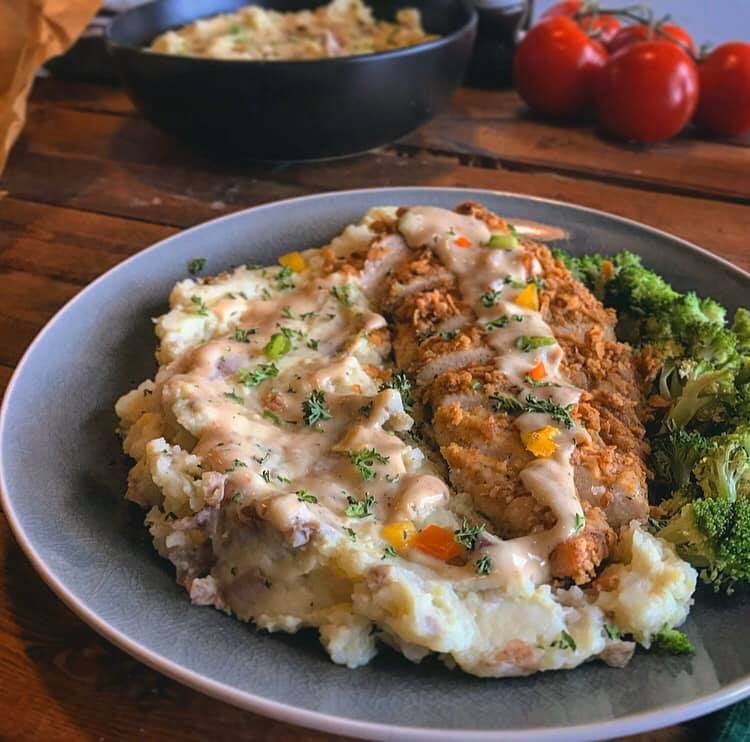 French Onion Chicken Chipotle Gravy Recipe by Ash's In The Kitchen