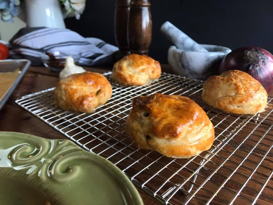 Mushroom and Onion Croissant Puffs Recipe by Ash's In The Kitchen