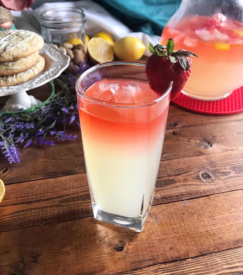 Strawberry Lemonade Sunrise by Ash's In The Kitchen