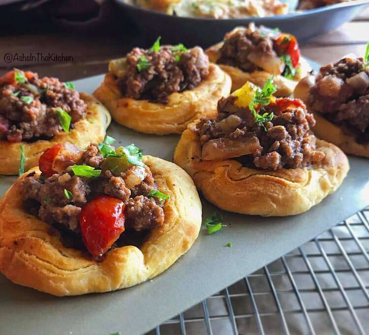 Kid Friendly Ground Beef Sloppy Joe Biscuit Cups Recipe by Ash's In The Kitchen