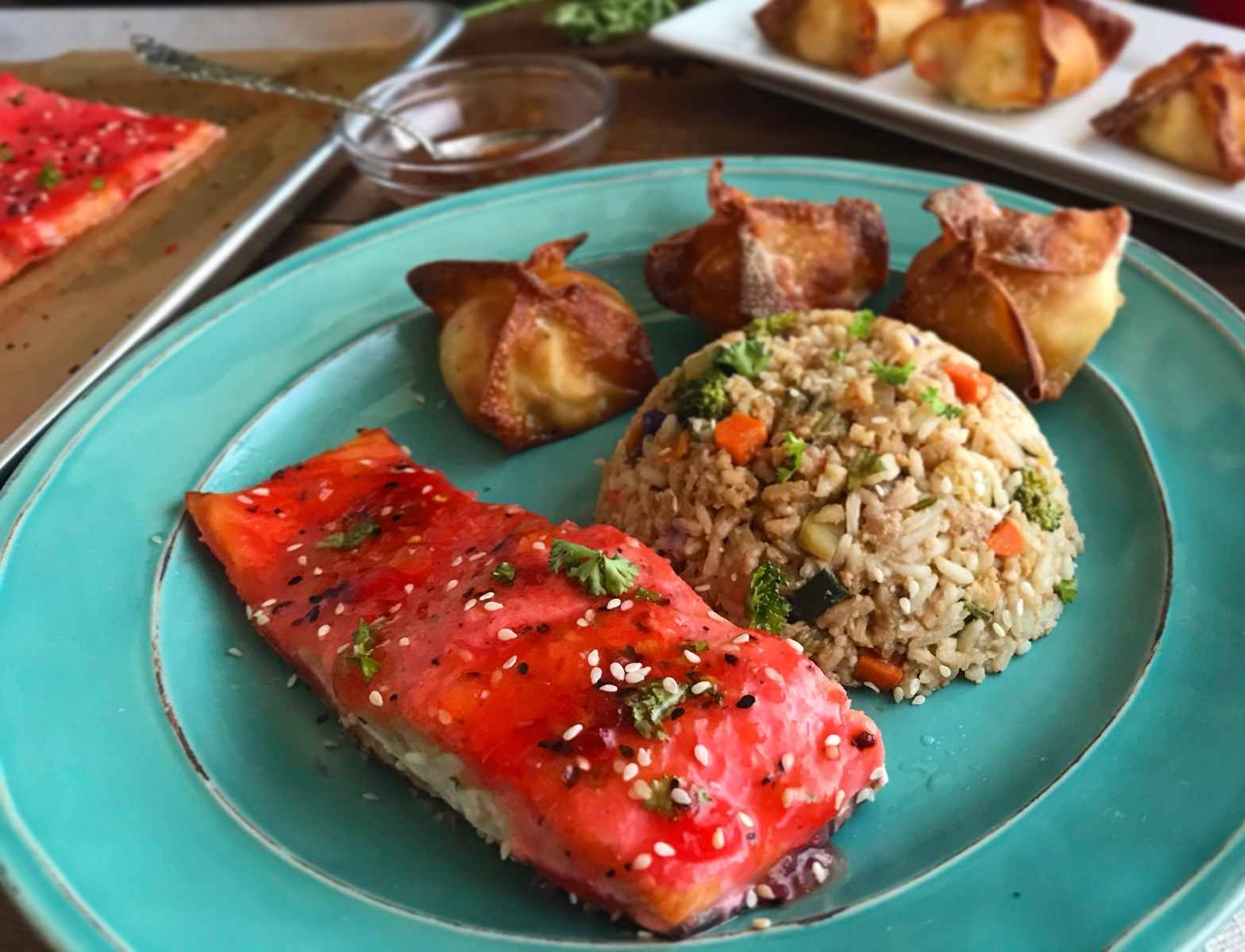 Asian Tangy Fish Seafood Baked Sweet and Sour Salmon Recipe by Ash's In The Kitchen