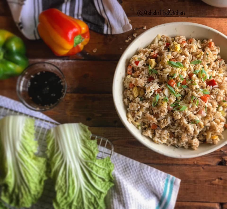 Restaurant Style Chinese Fried Rice Recipe by Ash's In The Kitchen