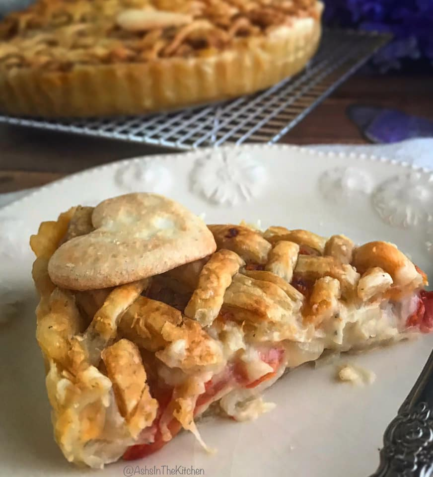 Sweet Onion Tomato Puff Pastry Pie Recipe by Ash's In The Kitchen