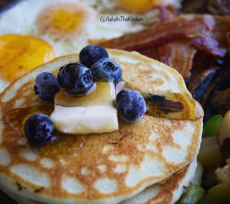 Blueberry Banana Pancakes Recipe by Ash's In The Kitchen