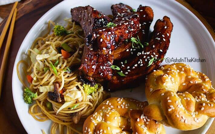 Sweet and Sticky Asian Style Ribs Recipe by Ash's In The Kitchen